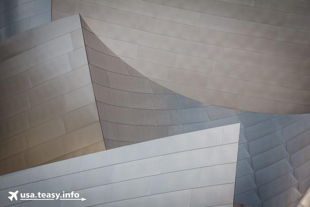 Abstrakte Formen und Flächen bestimmen die Außenhülle der Walt Disney Concert Hall
