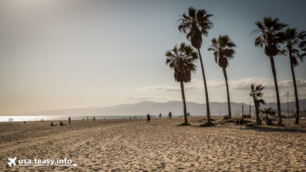 Der Sandstrand Venice Beach.