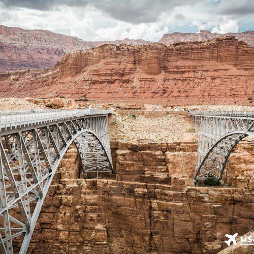 Eigentlich zwei Brücken: Die alte und die neue Navajo Bridge.
