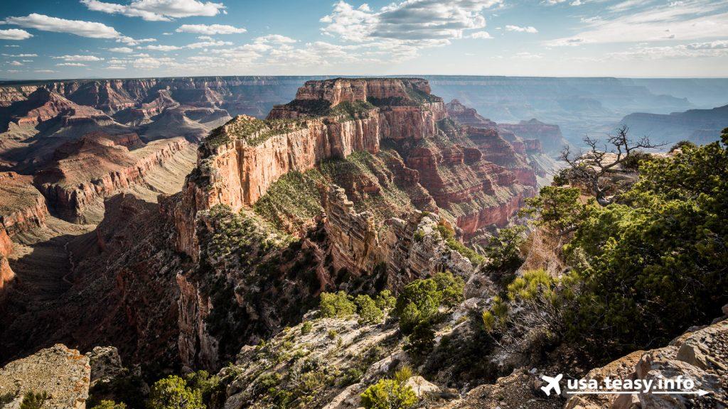 Eindrucksvolle Farbspiele am Grand Canyon (North Rim).
