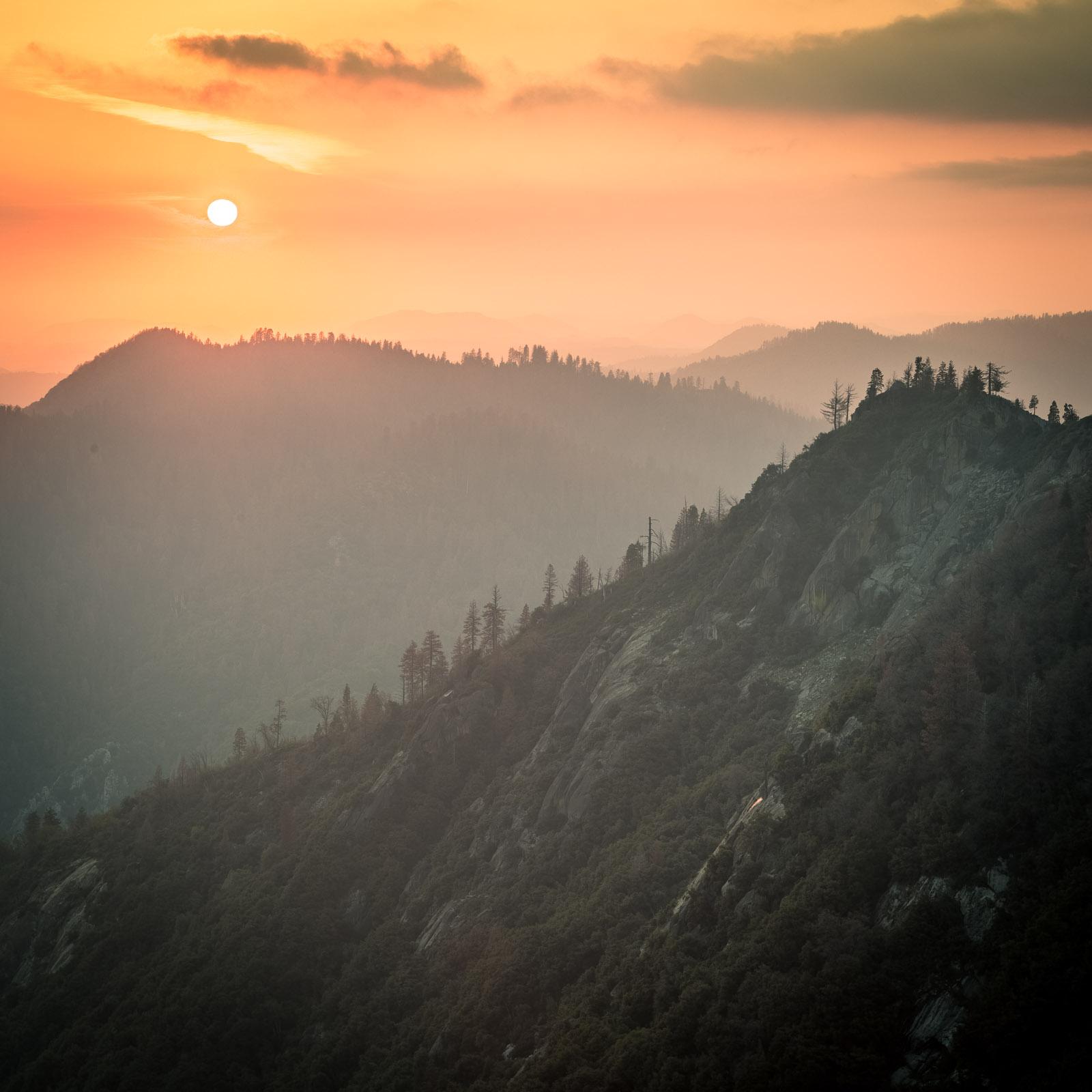 Moro Rock – Sonnenuntergang auf 2050 Metern