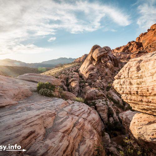 Sonnenuntergang im Red Rock Canyon bei Las Vegas.